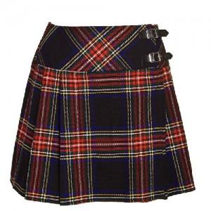 Scottish Black Stewart Tartan short Kilt