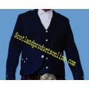 Dark Navy Blue Argyll Kilt Jackets With Vest