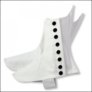 Military Style White Canvas Spat