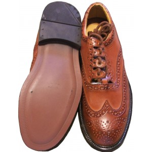 Tan Brown Leather Ghillie Brogues