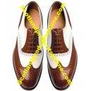 Piper Black Leather Ghillie Brogues