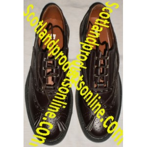 Dark Brown Leather Ghillie Brogues