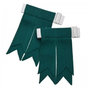 Green Traditional Kilt Flashes