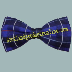 Royal Blue & Navy Blue Argyle Tartan Bow Tie