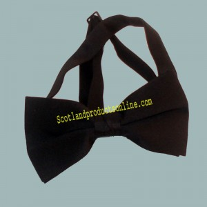 Adjustable Plain Black Bow Tie