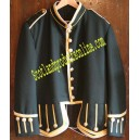 Dark Green Pipe Band Doublet Jacket