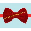 Classic Men's Red Velvet Bow Tie