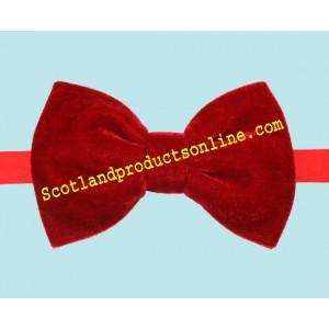 Classic Men's Red Velvet Bow Tie