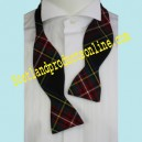 Self-Tie Black Stewart Tartan Bow Tie