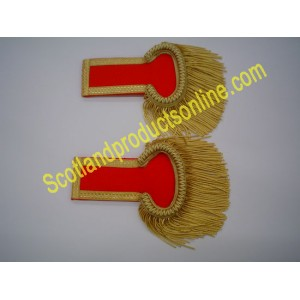 Gold Fringed Epaulettes