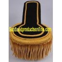 Gold Fringed Epaulettes On Black Felt