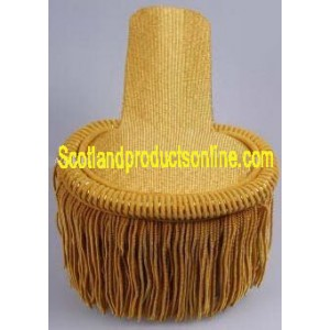 Gold Fringed Epaulettes On Gold Cloth