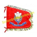 Bagpipe Banner With Custom Crest Badge