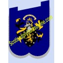 Pipe Banner With Crest Embroidery Badge