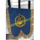 Pipe Banner With Bagpipe Badge