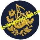 Pipe Major Badge Gold On Blue