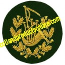 Pipe Major Badge Gold On Green