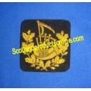 BAGPIPE WREATH BADGE PATCH