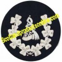 Shamrock Wreathed Pipe Major Badge