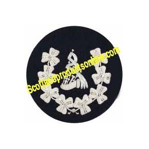 Shamrock Wreathed Pipe Major Badge