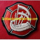 Firefighter Bagpipe Badge