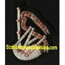 Firefighter Embroidered Bagpipe Blazer Patch Badge