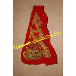 Scottish Pipers Bagpipe Badge