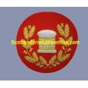 Arm Drum Badge In Wreath