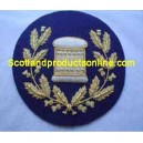 Arm Drum Badge In Wreath On Navy