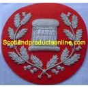 Arm Drum In Wreath On Red Silver