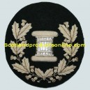 Drum Major Badge Silver on Black