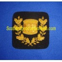 Golden Drum Wreath Badge Patch