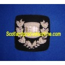 Silver Drum Wreath Badge Patch