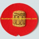 Drum Gold On Red No.1 Badge