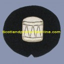 Drum Silver On Black No.1 Badge